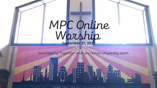 Online Worship for September 27, 2020