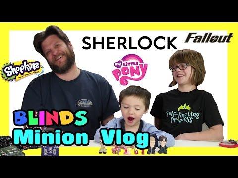 Opening Blinds (Minion Vlog) Shopkins, MLP, Sherlock, Fallout- Day 894   ActOutGames