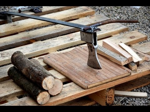 DIY | How To Make A Firewood Splitter (Kindling)