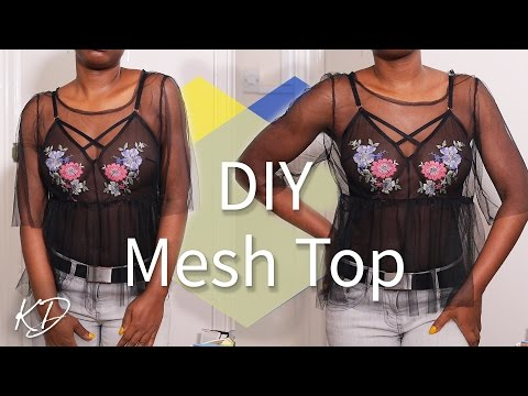 HOW TO MAKE A MESH TOP   EASY SEWING TUTORIAL   KIM DAVE