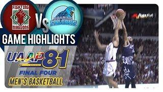 UAAP 81 MB - Final Four: UP vs. AdU | Game Highlights | November 28, 2018