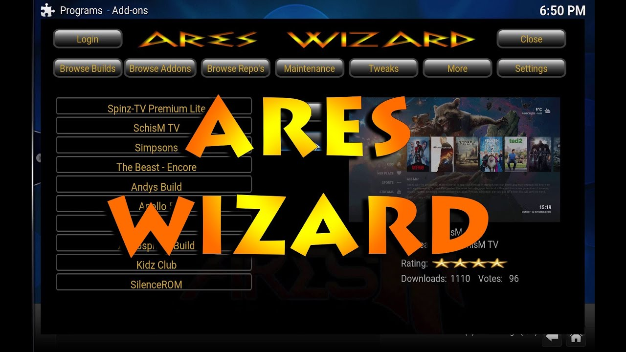 XBMC/KODI -HOW TO INSTALL BEST WIZARD!!!ARES WIZARD. - YouTube: https://youtube.com/watch?v=htcp0fmokqe