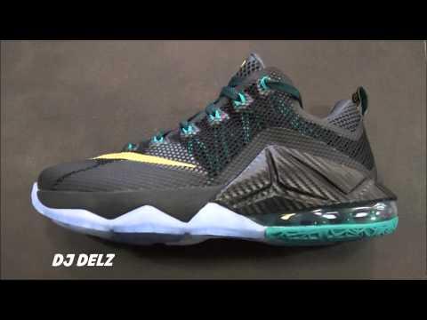 nike-lebron-12-low-svsm-black-anthracite-emerald-carbon-fiber-shoe-review-with-@djdelz