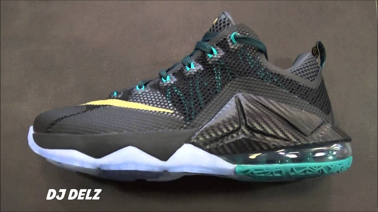 8115b1b062f Nike Lebron 12 Low SVSM Black Anthracite Emerald Carbon Fiber Shoe Review  With  DjDelz