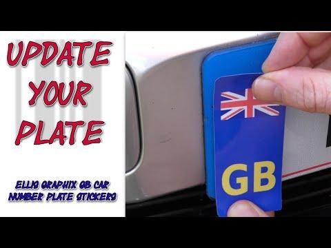 Ellis Graphix GB Car Number Plate Stickers