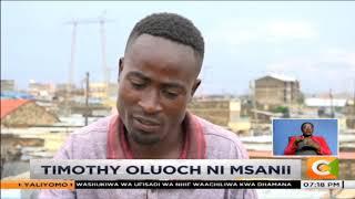 AKILI MALI | Timothy Oluoch anatengeza picha kwa kutumia nyasi