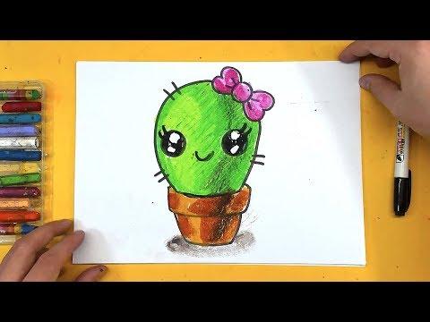 Как рисуются кактусы