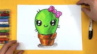 Как нарисовать КАКТУС / урок рисования для детей