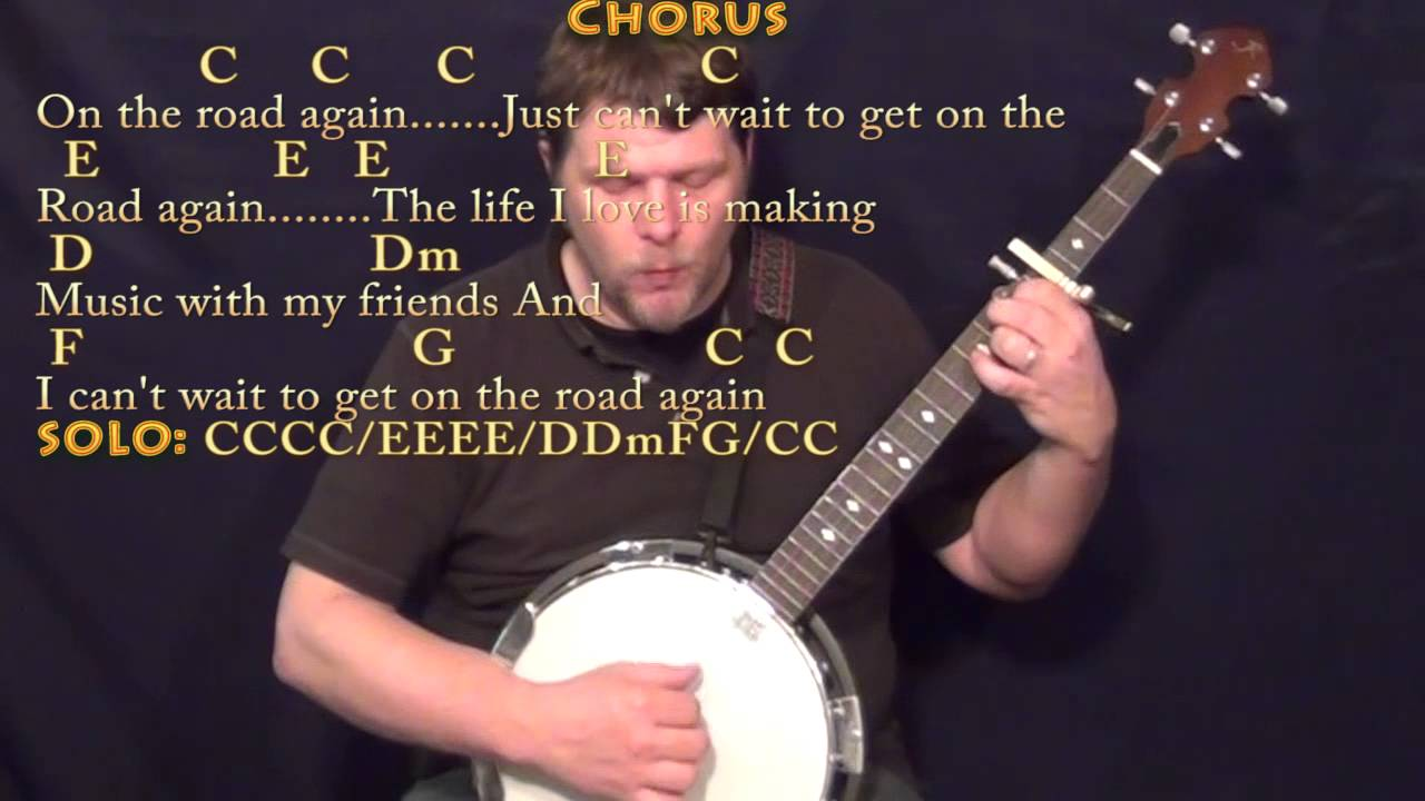 On The Road Again Willie Nelson Banjo Cover Lesson With Chords