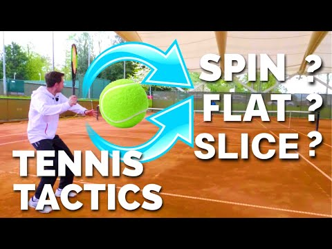 Tennis Tactics - When To Hit Spin or Slice or Flat Shots in Singles