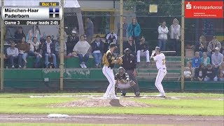 2017 Quarterfinal GAME 3: Paderborn 4, Haar 1 (5 Innings)
