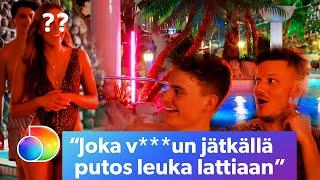 Ex On The Beach Suomi Afterski | Villit vesipedot odottavat paratiisikylpylässä! | discovery+ Suomi
