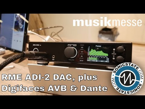 MESSE 2018: RME Shows ADI-2 DAC plus Digifaces: AVB & Dante