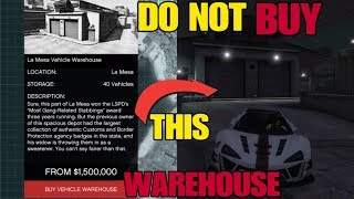 DO NOT BUY THIS VEHICLE WAREHOUSE Buying Guide Stealing Cargo GTA 5 Online Import Export DLC