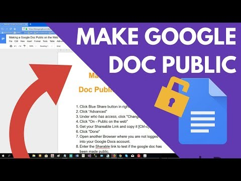 How to Make a Google Doc Public on the Web