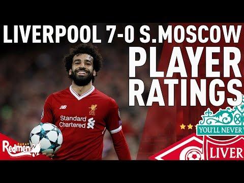 Salah, Coutinho & Firmino Get 10s! | Liverpool v Spartak Moscow 7-0 | Chris' Player Ratings