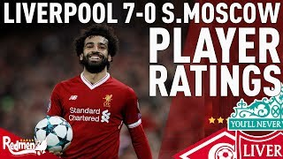 Salah, Coutinho & Firmino Get 10s! | Liverpool v Spartak Moscow 7-0 | Chris' Player Ratings