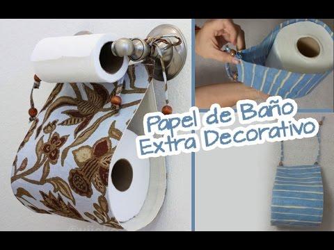 Extra de papel de ba o decorativo para ba os manualidades chuladas creativas youtube - Papel para bano ...