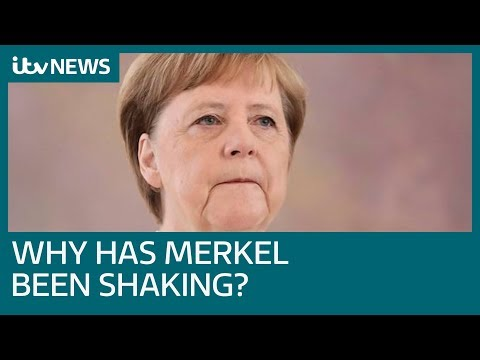 Angela Merkel seen shaking again at event in Berlin | ITV News