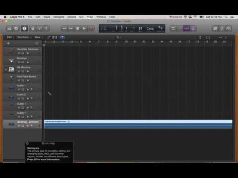 Importing Audio File On Logic Pro X