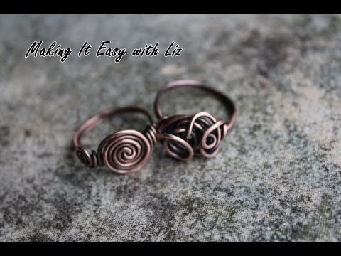 How To Make An Easy Wire Ring 2 Styles Youtube