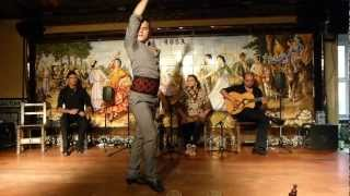 Rafael Jimenez EL OLAE zorongo gitano I Concurso flamenco EN EL TABLAO VILLA ROSA