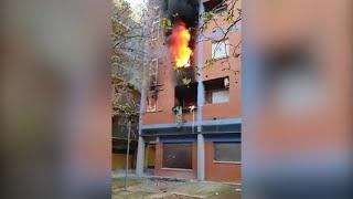 Incendio en un dúplex en el polígono residencial de Toledo