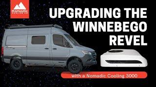 "WINNEBAGO REVEL MODS AND UPGRADES | NOMADIC COOLING 2000 12V AIR CONDITIONER INSTALL | 144"" SPRINTER"