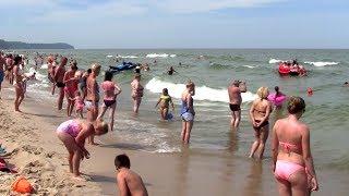 Władysławowo plaża 2018 wspomnienie wakacji