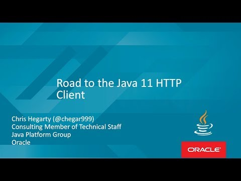 Road to the Java 11 HTTP Client with Chris Hegarty