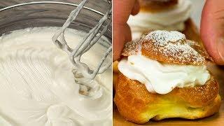 Самый простой рецепт профитроли! Нежные, легкие, с чуть уловимым ванильным ароматом. | Appetitno.TV
