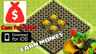 "Clash Of Clans ""Cash For Apps"" (Earn Monies for Gems)"
