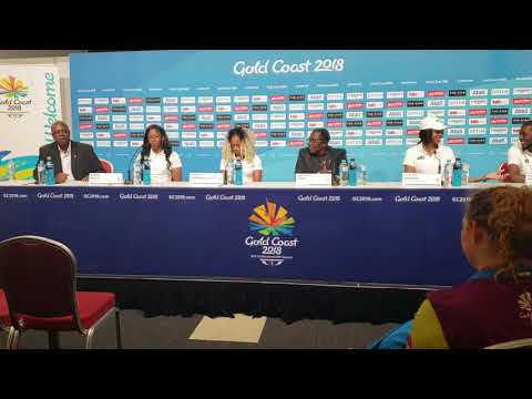 Commonwealth Games Press Conference Team BVI