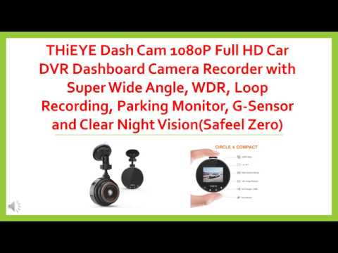 THiEYE Dash Cam 1080P Full HD Car DVR Dashboard Camera Recorder With Super Wide Angle, WDR, Loop Rec