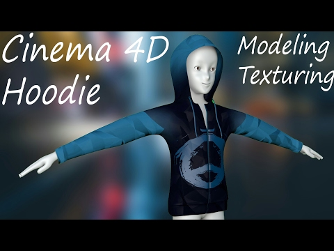 Cinema 4D   Clothes   Hoodie   Modeling & Texturing