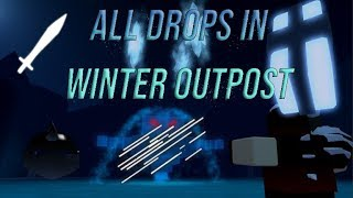 Roblox Guides - HOW TO GET ALL DROPS IN WINTER OUTPOST | DUNGEON QUEST