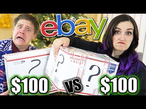 $100 vs $100 eBay Mystery Box Unboxings (SO Much Weird Stuff NOT Clickbait)