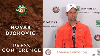 Novak Djokovic - Press Conference after Semi-Finals | Roland-Garros 2019