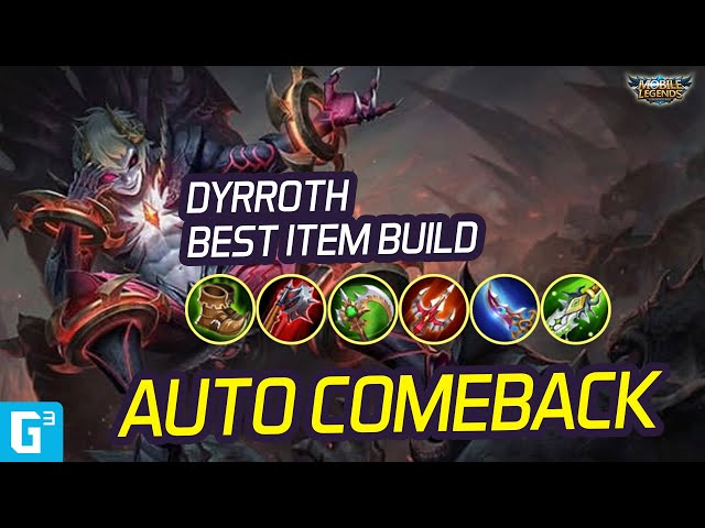 BUILD DYRROTH AUTO MENANG 🤣🤣 - ITEM GUIDE DYRROTH | MOBILE LEGENDS