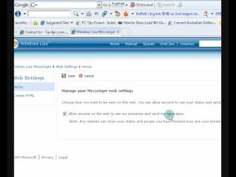 Embed Windows Live Chat code into your website