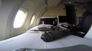 LH470 FRA-YYZ Lufthansa First Class Frankfurt to Toronto 4K GoPro