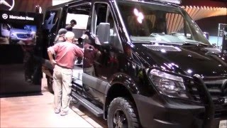 2016 Mercedes Sprinter 2500 4x4(In this video. I am at the toronto international auto show. I am showing you this 2016 mercedes benz sprinter 2500. It is diesel and 4wd with a lift straight out of ..., 2016-03-14T23:03:20.000Z)