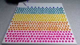 Rainbow Candy Buttons Art - 3D Dot Art - Satisfying Art