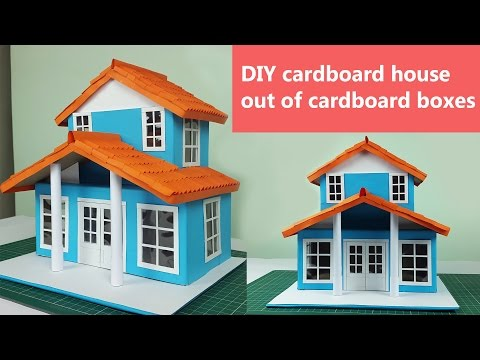 DIY cardboard house out of cardboard boxes- Step by step instructions.