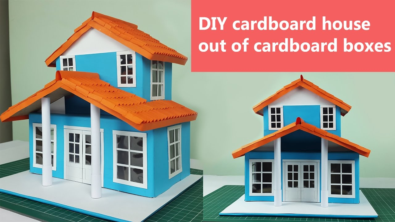 Diy cardboard house out of cardboard boxes step by step for Build a 3d house online