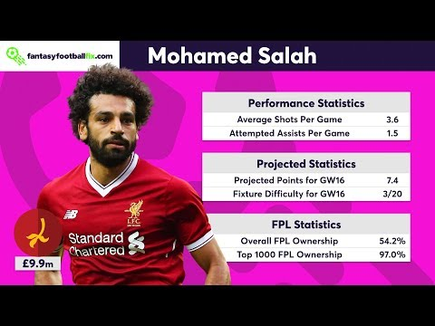 Gameweek 16 | Top 5 Fix Player Picks | Fantasy Premier League 2017/18