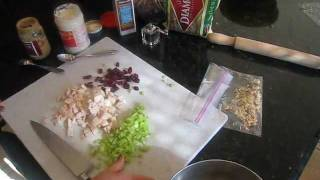 Chicken Salad With Dried Cranberries And Walnuts - Body For Life Lunch - 12.06.11