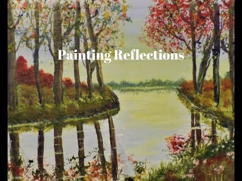 How to Paint REFLECTIONS in water with Acrylics for Beginners Part 2