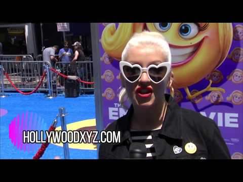 The Emoji Movie World Premiere Christina Aguilera, James Corden, Maya Rudolph, Jake T Austin,