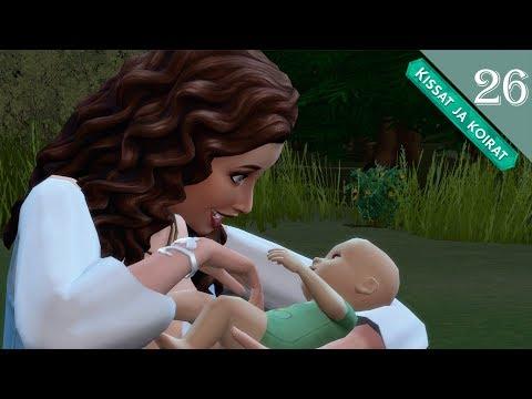 The Sims 4 |  Kissat ja koirat - #26 SE SYNTY ja asuu metsäs XD